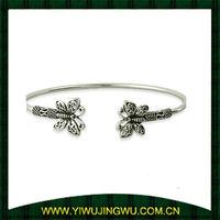 Sterling Silver Bali Butterfly Bangle Bracelet