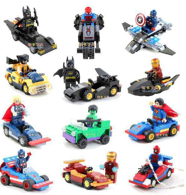 buy 2015 hot avengers 12 figures 12 vehicles marvel comics super heroes building bricks block. Black Bedroom Furniture Sets. Home Design Ideas