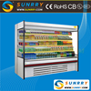 New style supermarket used open showcase refrigerator for food display sell in factory price (SUNRRY SY-SCS2000W)
