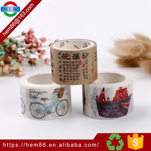 Wholesale printed High Quality Tape washi paper tape for decor, colorful label sticker for scrapbooking