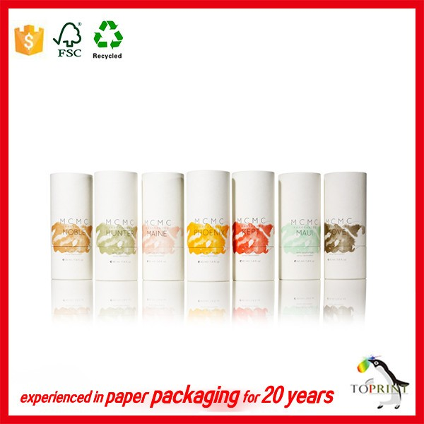 OEM/ODM design eco-friendly cylinder paper packaging box shaped tubes for hand cream/body cream