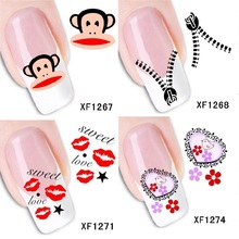 1261 to 1280 styles nail art water transfer stickers DIY Nails Decal pegatinaunas reine des neiges
