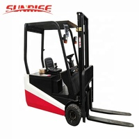1.5 Ton Three Wheel Electric Battery Operated Forklift Truck