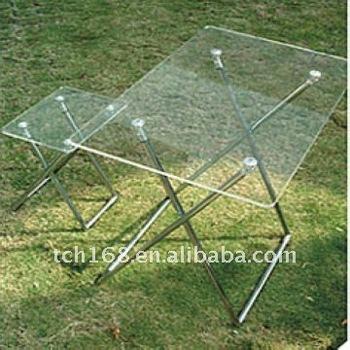 Foldable Clear Acrylic Tea Table Lucite Desk/Transparent Coffee Table