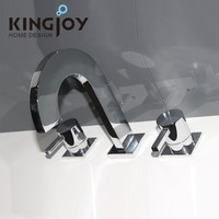 sing handle deck mounted brass led automatic kitchen faucets