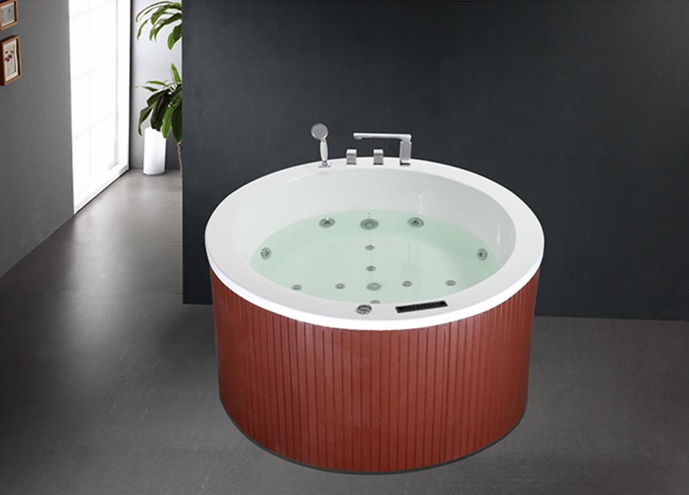 Hs-b235a Small Round Bathtub,Tub Surround,One Person Outdoor Hot Tub ...