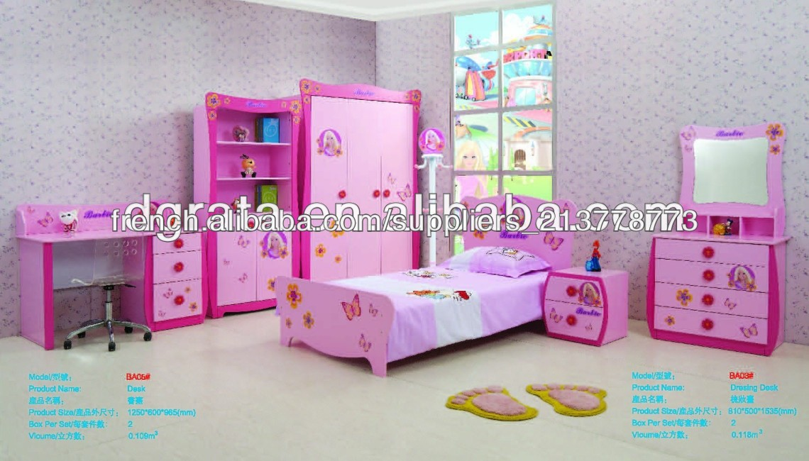 2014 petites filles meubles de la chambre de Barbie série ...