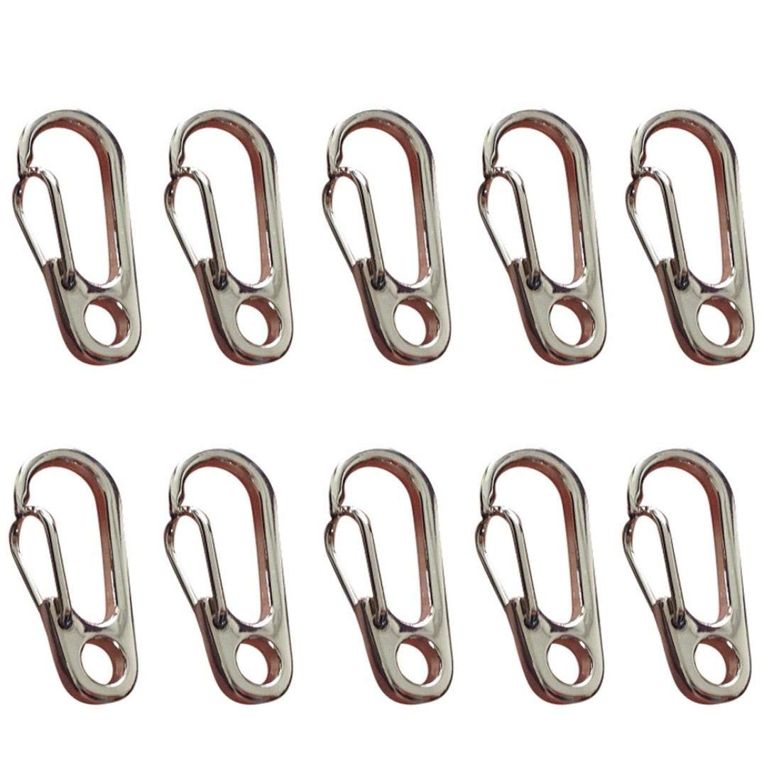 Accessories NHW 32 Pack Assorted Colors Gourd Shape Spring Loaded Gate Aluminum Carabiner for Home Camping Fishing Hiking Traveling and Keychain Outdoor Recreation