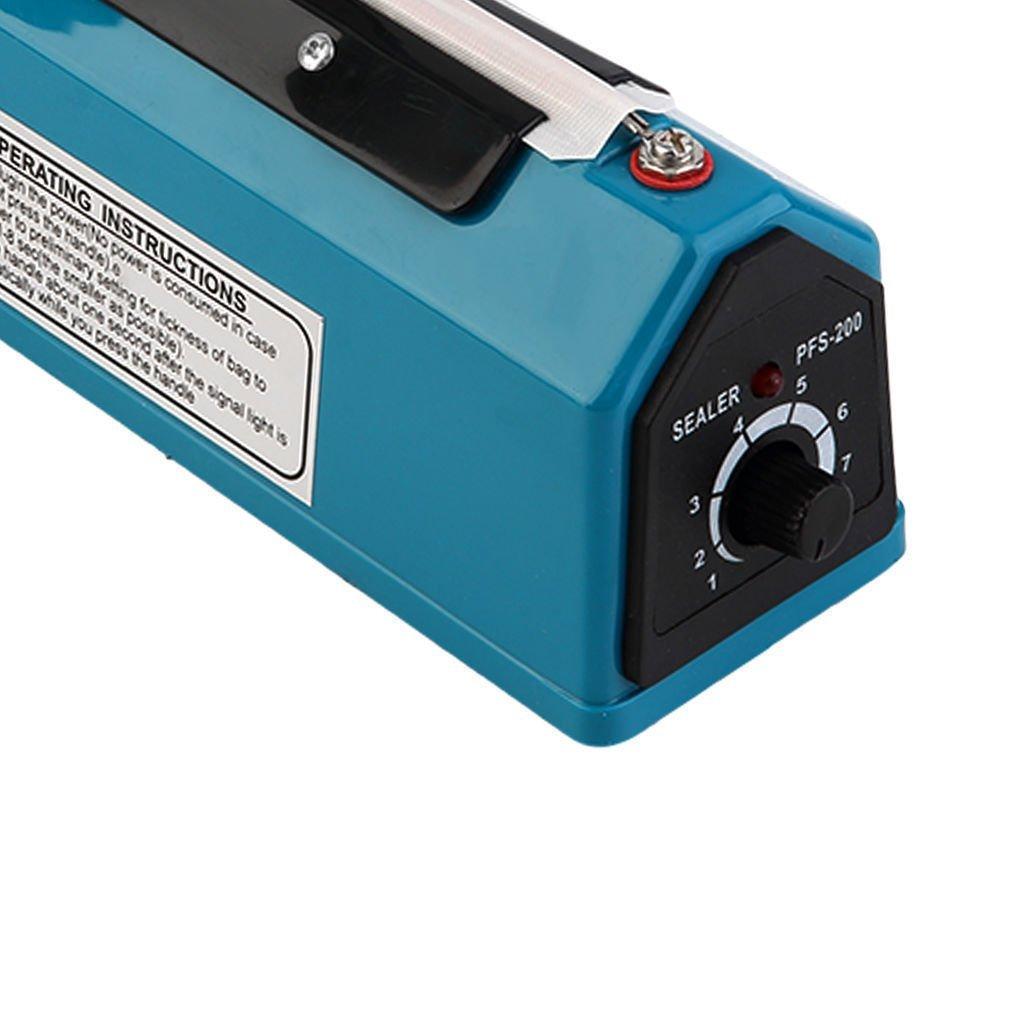 "New MTN-G 8""/12"" Heat Sealing Hand Impulse Poly Sealer Plastic Closer Machine Teflon HL-PFS-200MM,"
