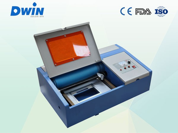 mini co2 laser engraving rubber stamps and plastic film machine 300*200mm working area