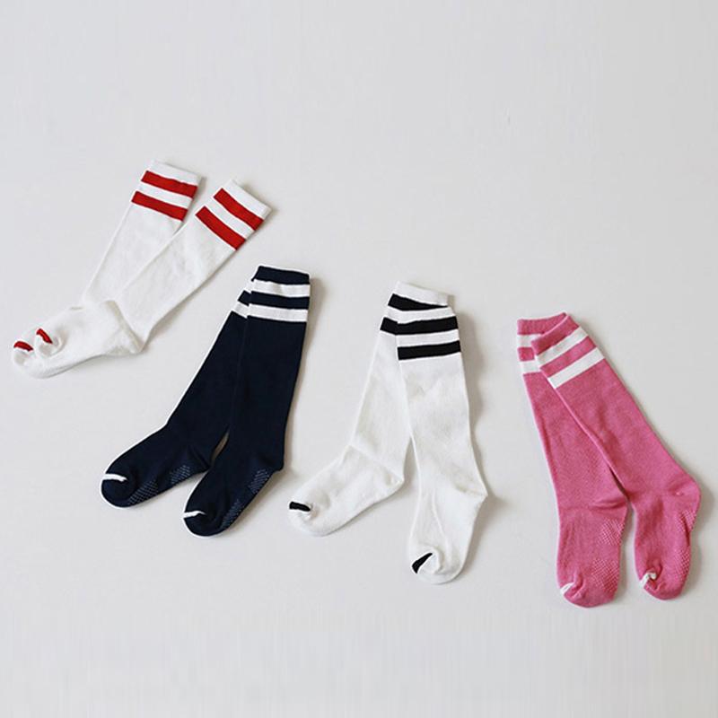 BBK 16 baby Knee socks Korean Soccer sock Black Red Four color baby boys girls 100