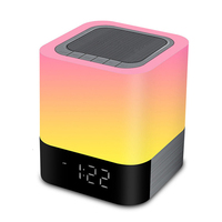 LED Alarm Clock with Night Light Wireless Speakers Touch Sensor Bedside Lamp/MP3 Music Player Mini HiFi speaker