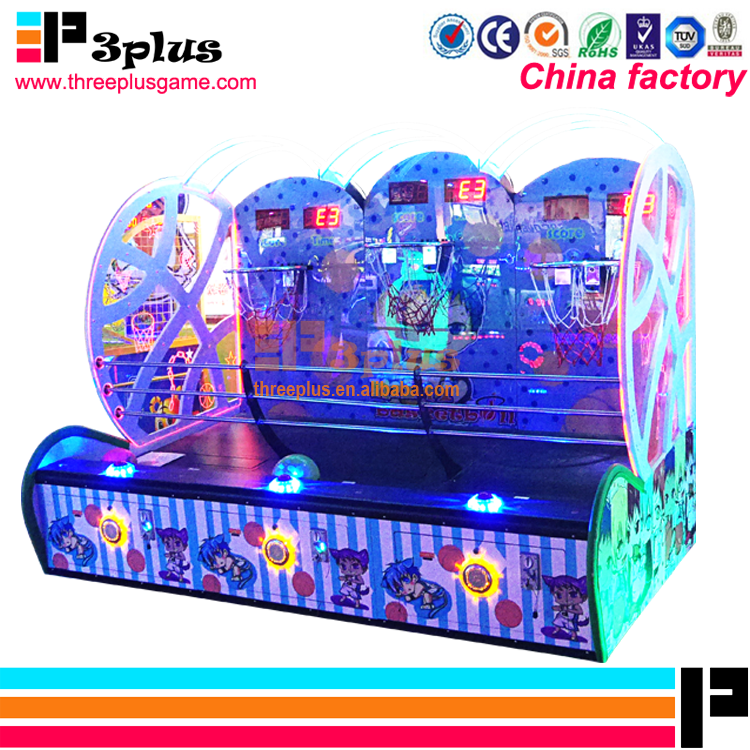 coin o'perated basketball game 3 player kids basketball arcade game machine for match