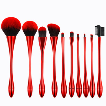 Hot sell on amazon small waist beauty tools 10pcs/set goblet makeup brush set