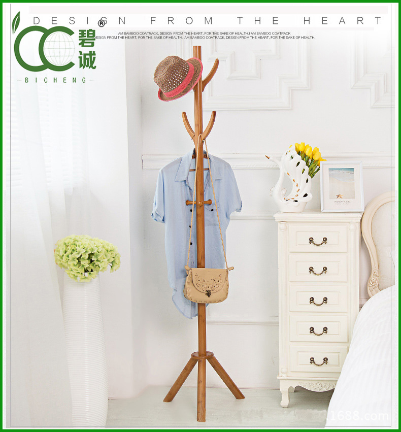 Fashion Design Retail Houseware Bamboo Clothing Rack Wholesale