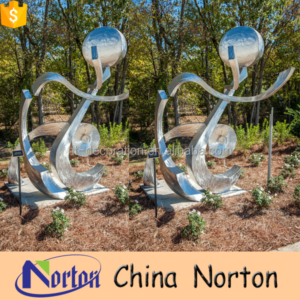 Steel crafts outdoor land sculptures modern NTS-054Y
