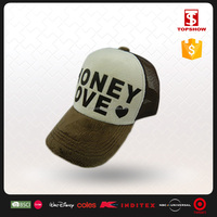 Fast delivery 100% Polyester Printed Summer 5 panel mesh cap