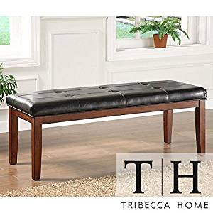 Metro Shop Tribecca Home Hawthorne Faux Leather Bench