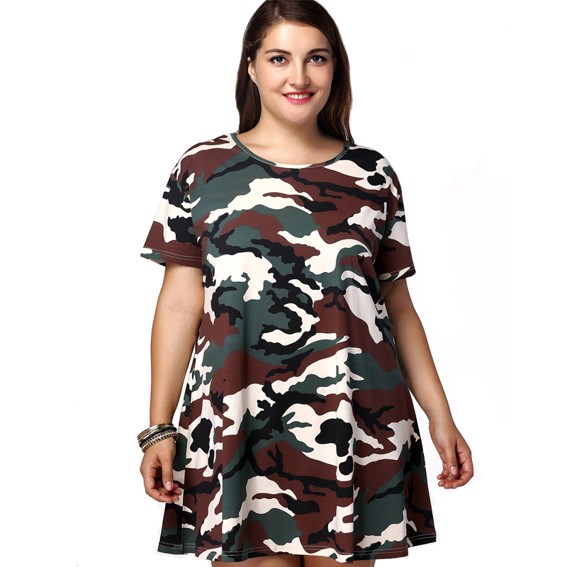 Summer Short Fat Women Shirts Plus Size Clothing Camouflage Dress - Buy  Camouflage Dress,Short Fat Women Dress,Plus Size Clothing Product on ...