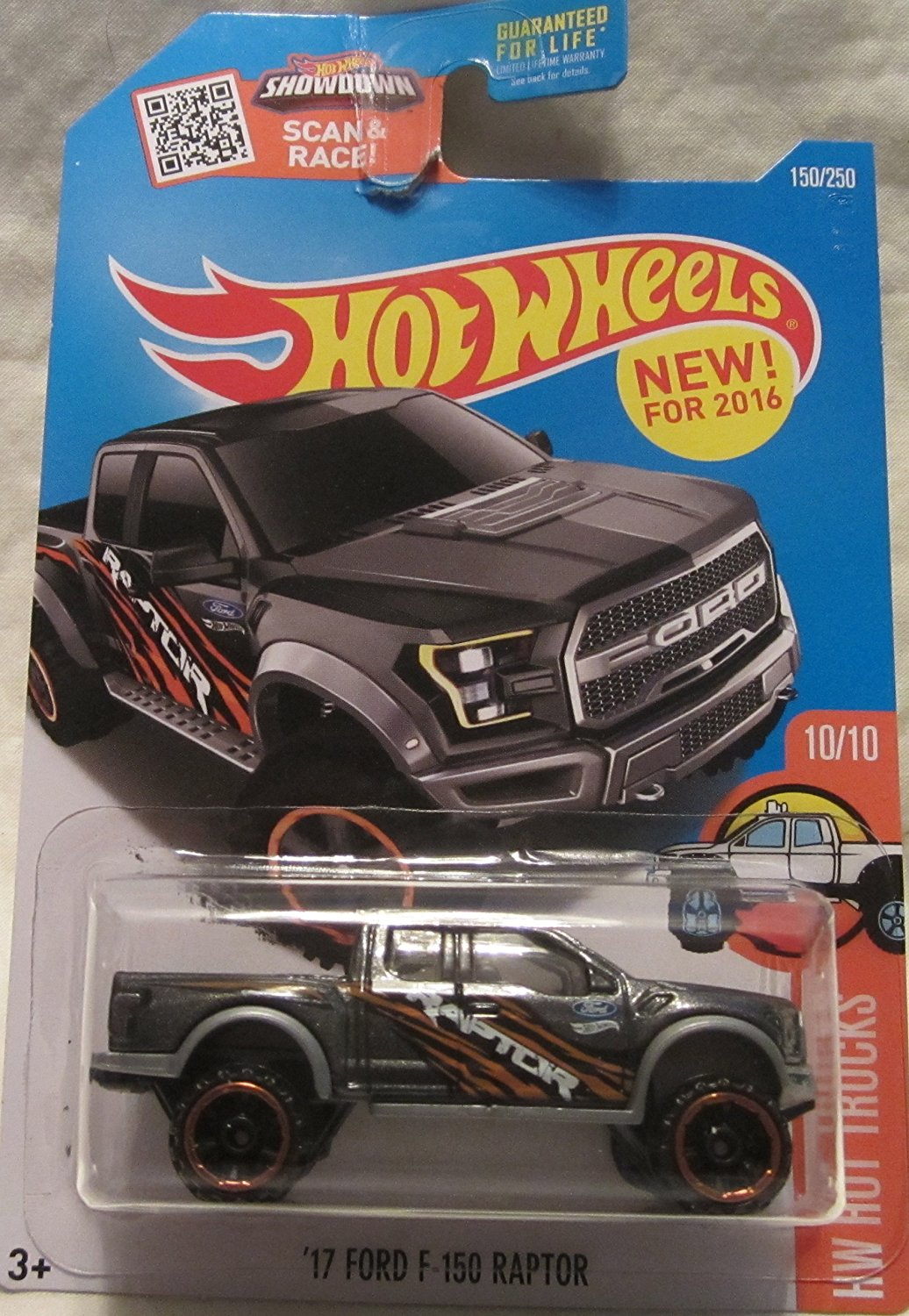 '17 Ford F-150 Raptor Hot Wheels 2016 HW Hot Trucks 1:64 Scale Collectible Die Cast Metal Toy Car Model #10/10