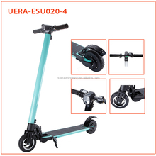 Adult folding electric scooter with big led light lithium battery escooters