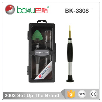 BAKU New Stainless steel Screwdriver With Opening Tools Types Of Screwdriver Sets (BK-3308 )