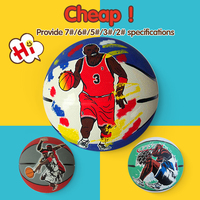 custom printed rubber material basketball balls, solid rubber sports ball