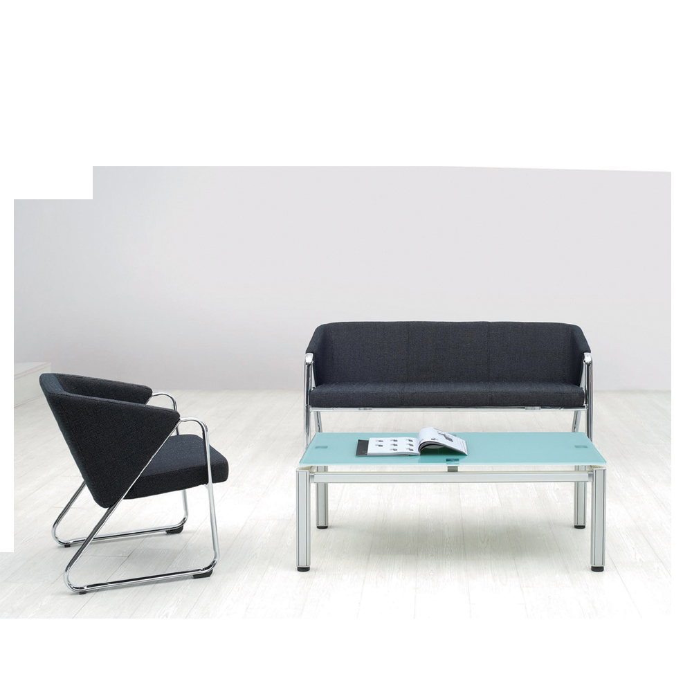 Style Solid Metal Frame Fabric Sofa Set