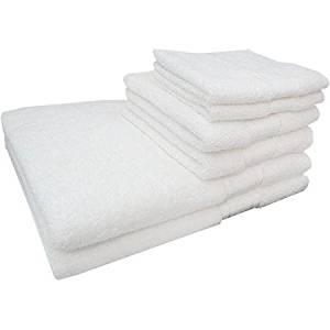 Soft and Absorbent Lenzing Modal Cotton Blend 6-Piece Bath Towel Set (White)