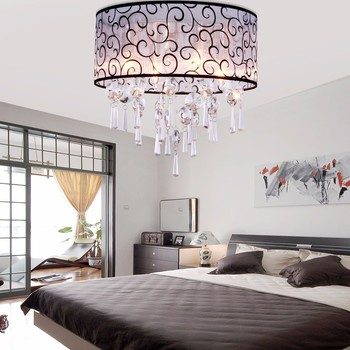 Traditional Crystal Chandelier,Drum Flush Mount Ceiling Light Fixture For  Bedroom And Living Room - Buy Dining Room Lighting Fixtures,Flush Mount ...