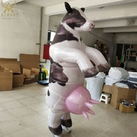 animal race event party inflatable running cow costume Carnival parade bull mascot