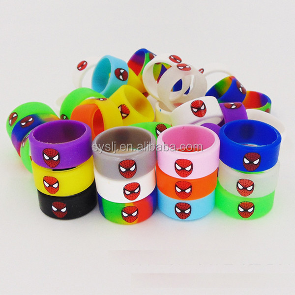 Glow in the dark silicone vape band custom wholesale price 100% silicone made from shuyuan colorful band