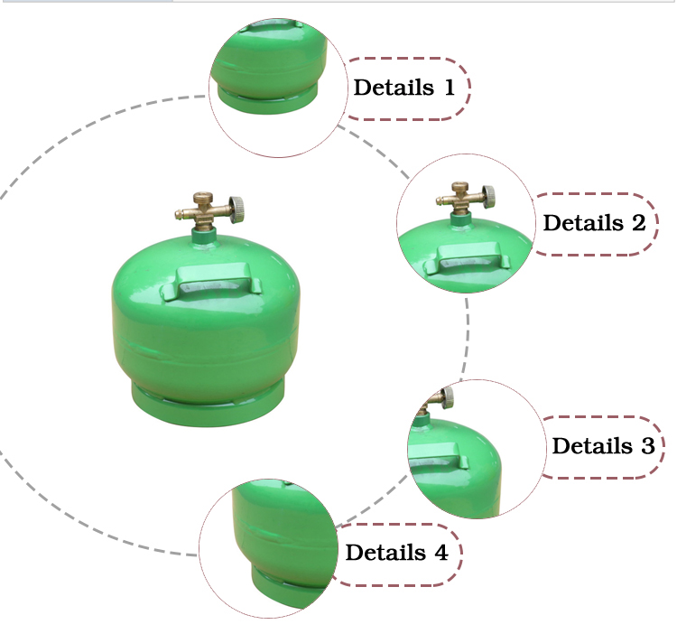 Promotional gas cylinder size natural