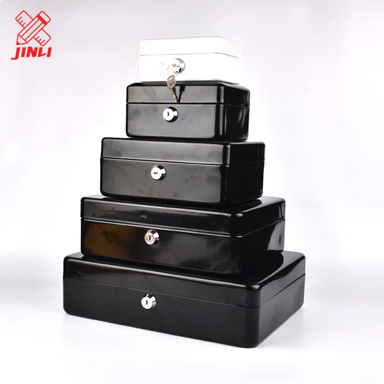 China manufacturer hot sale metal key lock safe deposit high quality portable cash safe money box .