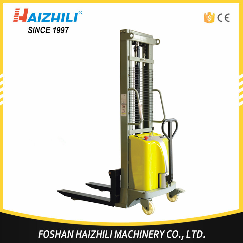 China factory forklifts 1000kg 2000mm ce semi-electric pallet stacker