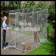 4mm Wire Diameter Large Chain Link Dog Cage/Kennel
