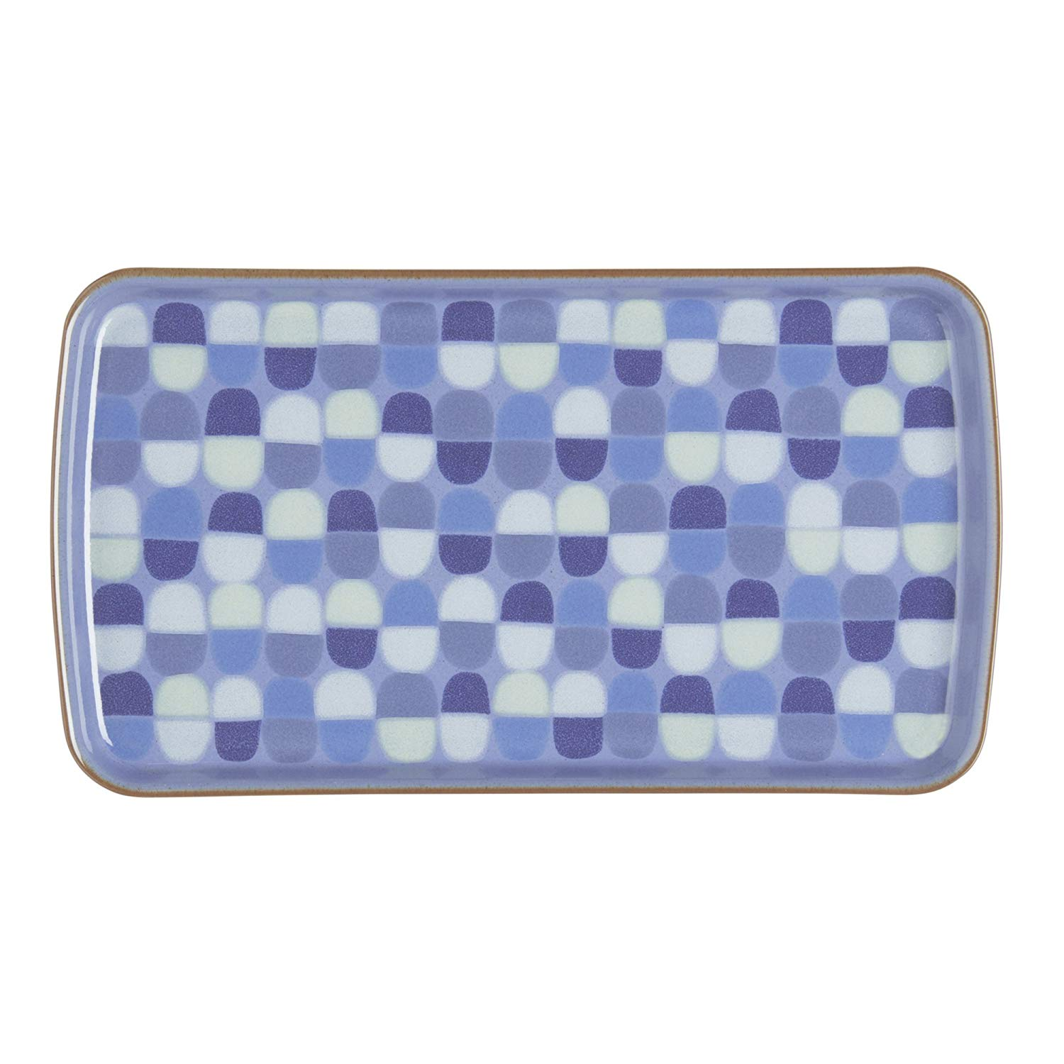 Denby USA Heritage Fountain Accent Rectangular Plate, Multicolor