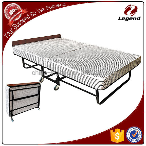 China wholesale White mattress cheap metal hotel bed frame