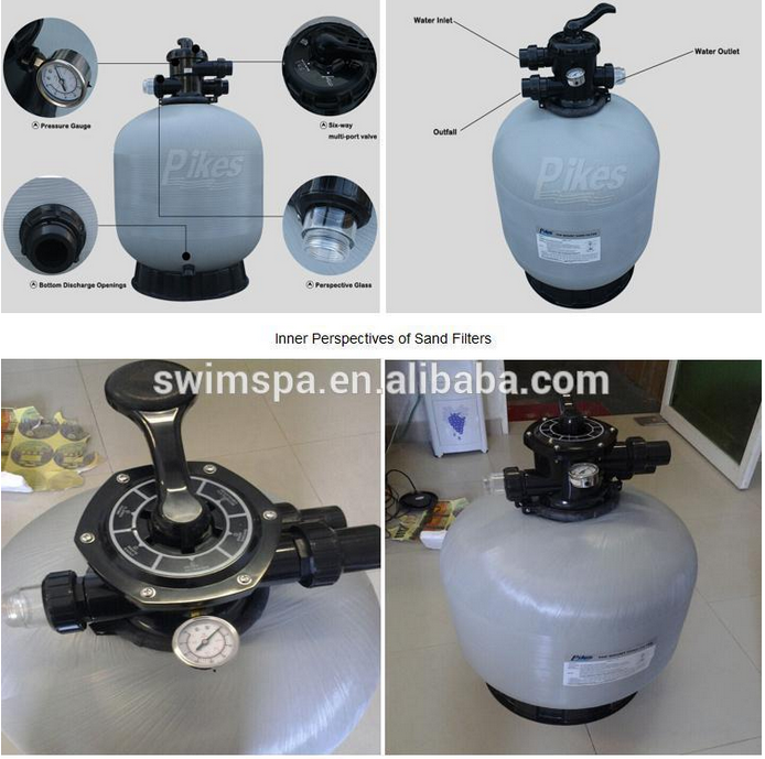 Swimming Pool Sand Tank Water Treatment Filter One Piece