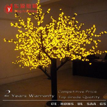 8 foot yellow light 2304 leds light cherry blossom christmas twig tree lights