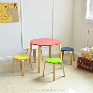 children Table and Chair Set kids Study Activity toddler round Table