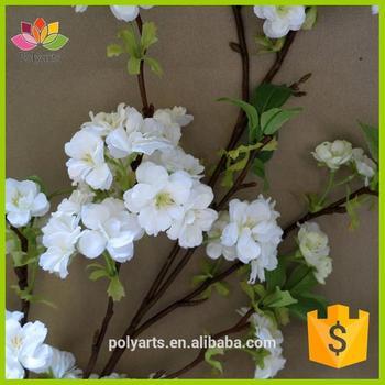 525 big white blossom branchartificial cherry blossom tree for 525quot big white blossom branch artificial cherry blossom tree for wedding mightylinksfo