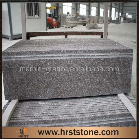 Polished Red Granite anti-slip stairs, Stair Step Covers
