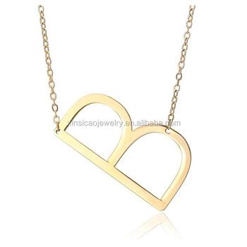 26 Letters Charm Pendants Necklaces Women Clavicle Chain Necklace Letter  Initial Chain Necklace - Buy Initial Letter Necklace,Letter Necklace,Charm