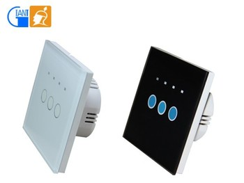home automation touch screen 2 way low voltage light wall switch