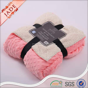 stock bubble mink fleece blankets minky sherpa blanket