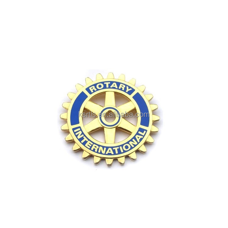 Custom made international rotary club lapel pin rotary pin