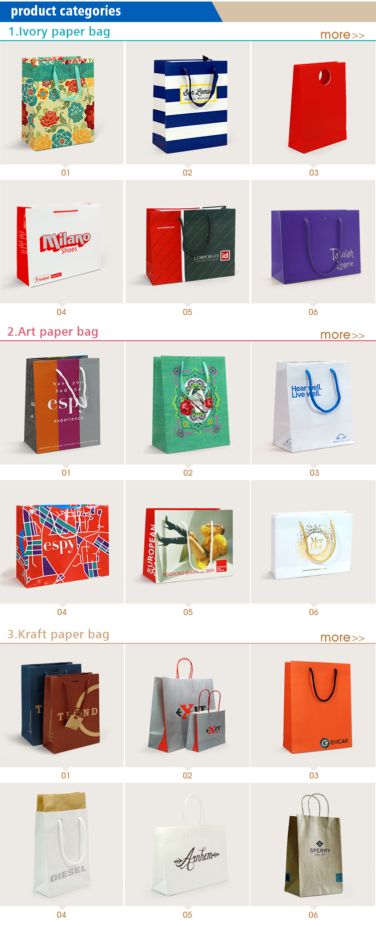 personalised logo paper shopping bag