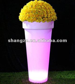 waterdichte verlichte rgb hoge tuin potten
