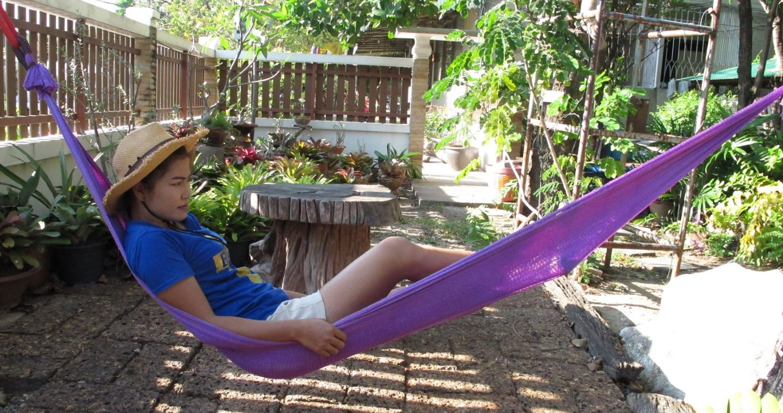 WooW!!! Portable Nylon Hang Mesh Net Outdoor Travel Camp Hammock Garden Sleeping Bed Size long 106 Inch.